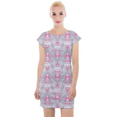 Seamless Pattern Background Cap Sleeve Bodycon Dress by HermanTelo