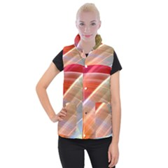 Wave Background Pattern Abstract Women s Button Up Vest