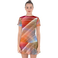 Wave Background Pattern Abstract Drop Hem Mini Chiffon Dress by HermanTelo