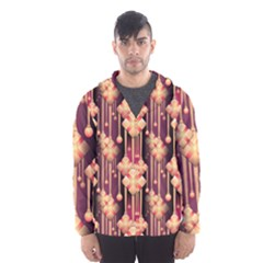 Seamless Pattern Plaid Men s Hooded Windbreaker