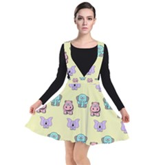 Animals Pastel Children Colorful Plunge Pinafore Dress by HermanTelo