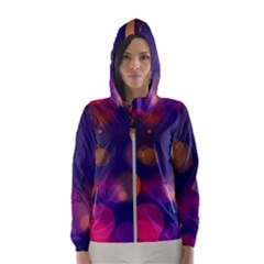 Seamless Pattern Design Tiling Women s Hooded Windbreaker