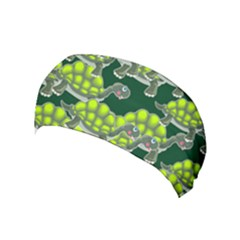 Seamless Turtle Green Yoga Headband by HermanTelo