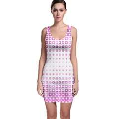 Square Pink Pattern Decoration Bodycon Dress by HermanTelo