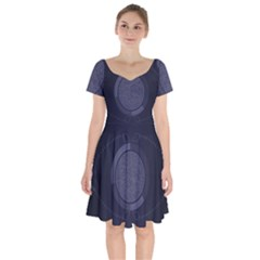 Technology Eye Short Sleeve Bardot Dress