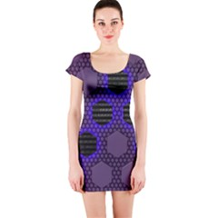 Networking Communication Technology Short Sleeve Bodycon Dress