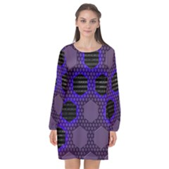 Networking Communication Technology Long Sleeve Chiffon Shift Dress