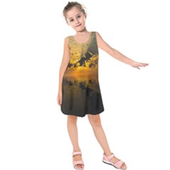 Sunset Reflection Birds Clouds Sky Kids  Sleeveless Dress
