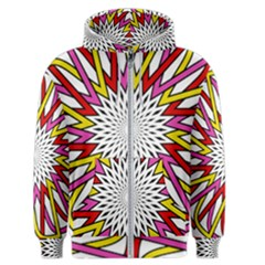 Sun Abstract Mandala Men s Zipper Hoodie