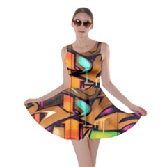 Graffiti Mural Street Art Wall Art Skater Dress