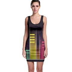 Illustrations Background Abstract Colors Bodycon Dress