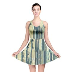 Texture Abstract Buildings Reversible Skater Dress