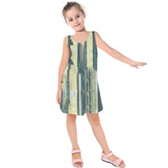 Texture Abstract Buildings Kids  Sleeveless Dress