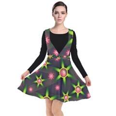 Non Seamless Pattern Background Plunge Pinafore Dress
