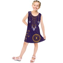 Background Non Seamless Pattern Kids  Tunic Dress