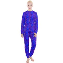 Periwinkle Lavender Abstract Women s Lounge Set by 1dsign