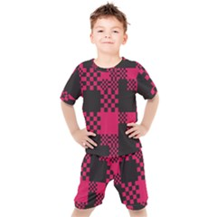 Cube Square Block Shape Kids  Tee And Shorts Set by Jojostore