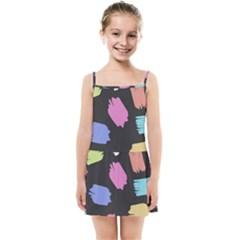 Many Colors Pattern Seamless Kids  Summer Sun Dress