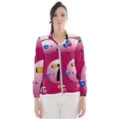 Billiard Ball Ball Game Pink Women s Windbreaker by HermanTelo