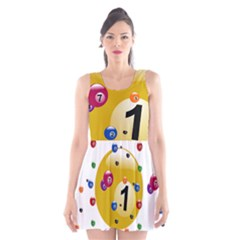 Billiard Ball Ball Game Scoop Neck Skater Dress