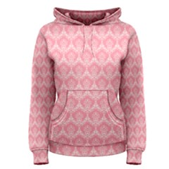 Damask Floral Design Seamless Women s Pullover Hoodie