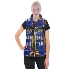 Famous Blue Police Box Women s Button Up Vest