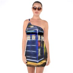 Famous Blue Police Box One Soulder Bodycon Dress by HermanTelo