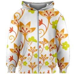 Pattern Floral Spring Map Gift Kids  Zipper Hoodie Without Drawstring