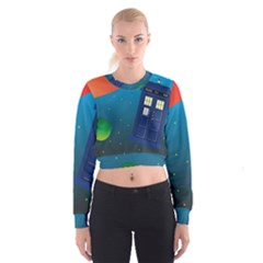 Tardis Doctor Time Travel Cropped Sweatshirt by HermanTelo