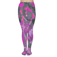 Fuchsia And Gray Snakeskin Tights by bottomsupbykenique
