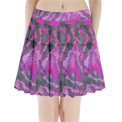 Fuchsia And Gray Snakeskin Pleated Mini Skirt by bottomsupbykenique