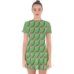 Default Texture Background Paper Drop Hem Mini Chiffon Dress by Pakrebo