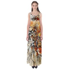 Collage Art The Statue Of Shell Empire Waist Maxi Dress by Pakrebo