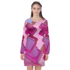 Render 3d Rendering Design Space Long Sleeve Chiffon Shift Dress