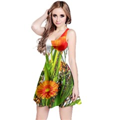 Tulip Gerbera Composites Broom Reversible Sleeveless Dress
