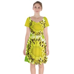 Kiwi Vitamins Eat Fresh Healthy Short Sleeve Bardot Dress