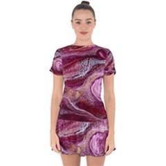 Paint Acrylic Paint Art Colorful Drop Hem Mini Chiffon Dress