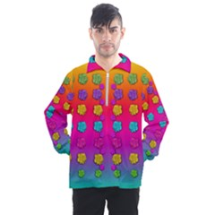 Roses In  Stunning Rainbows Men s Half Zip Pullover by pepitasart