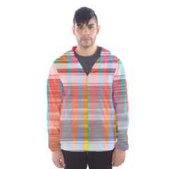 Abstract Color Men s Hooded Windbreaker
