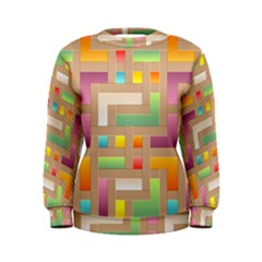 Abstract Background Colorful Women s Sweatshirt by HermanTelo