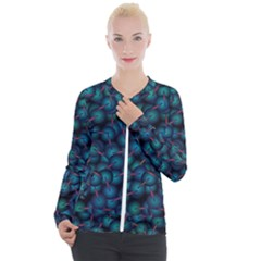 Background Abstract Textile Design Casual Zip Up Jacket by HermanTelo