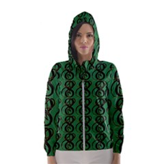 Abstract Pattern Graphic Lines Women s Hooded Windbreaker