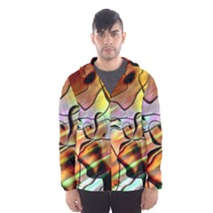 Abstract Transparent Drawing Men s Hooded Windbreaker