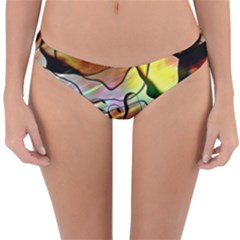 Abstract Transparent Drawing Reversible Hipster Bikini Bottoms