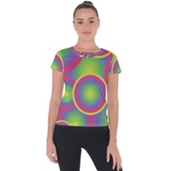 Background Colourful Circles Short Sleeve Sports Top