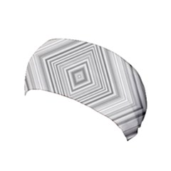 Black White Grey Pinstripes Angles Yoga Headband