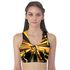 Clef Golden Music Sports Bra