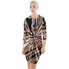 Music Clef Tones Quarter Sleeve Hood Bodycon Dress