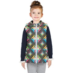 Pattern Pastels Background Kids  Hooded Puffer Vest by HermanTelo