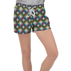 Pattern Pastels Background Women s Velour Lounge Shorts by HermanTelo